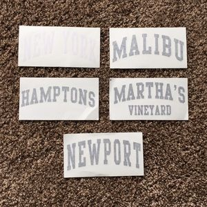 set of 5 large brandy melville stickers